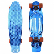 "Скейтборд Y-SCOO Big Fishskateboard metallic 27"" винил 68,6х19 с сумкой BLUE/brown"