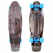 "Скейтборд Y-SCOO Big Fishskateboard metallic 27"" винил 68,6х19 с сумкой BLACK BRONZAT/blue"