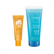 Набор Bioderma Photoderm (Max Аквафлюид SPF50+ 40 мл, Atoderm гель для душа 100 мл)